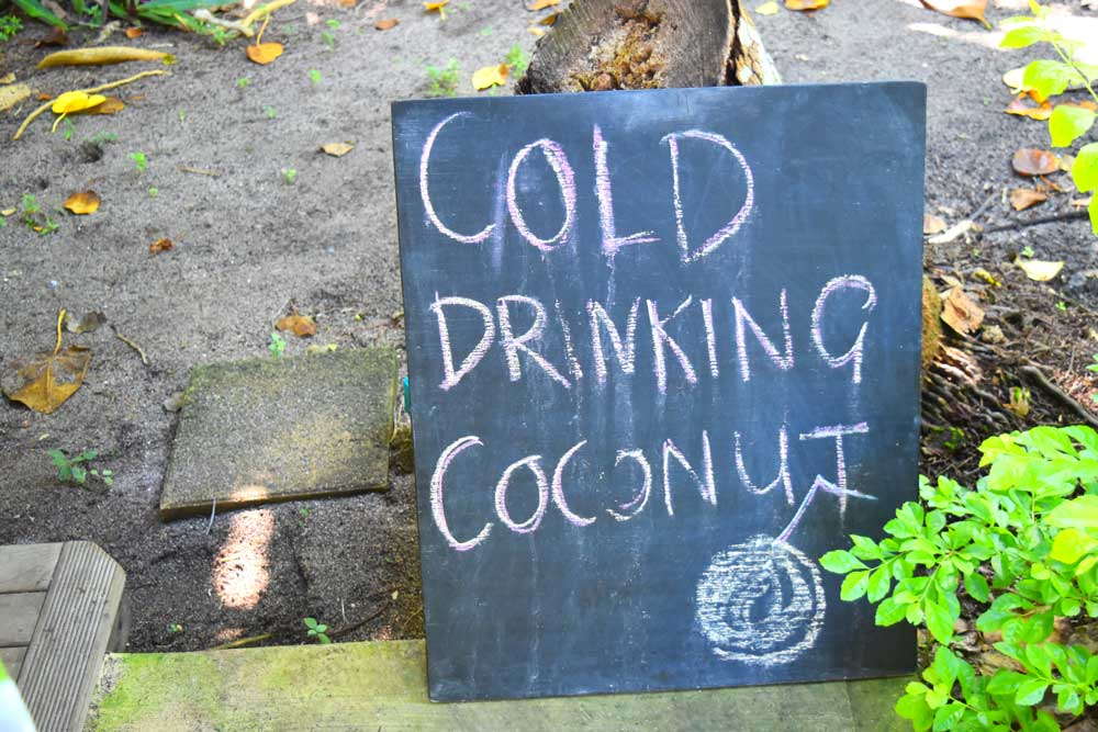 Coconut Drink Sign Mandatory Credit To TongaPocketGuide.com