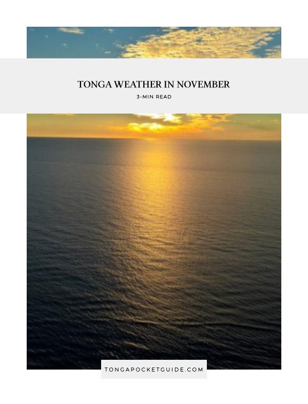 Tonga Weather in November