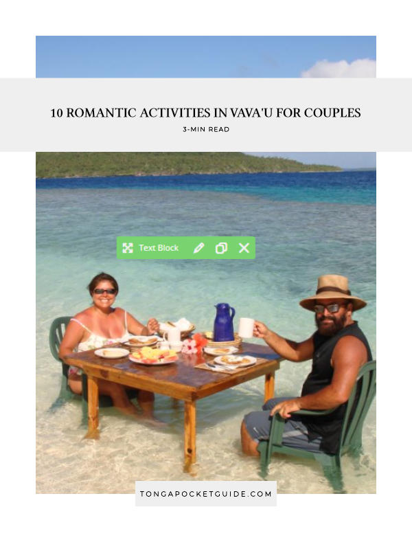10 Romantic Activities in Vava'u for Couples