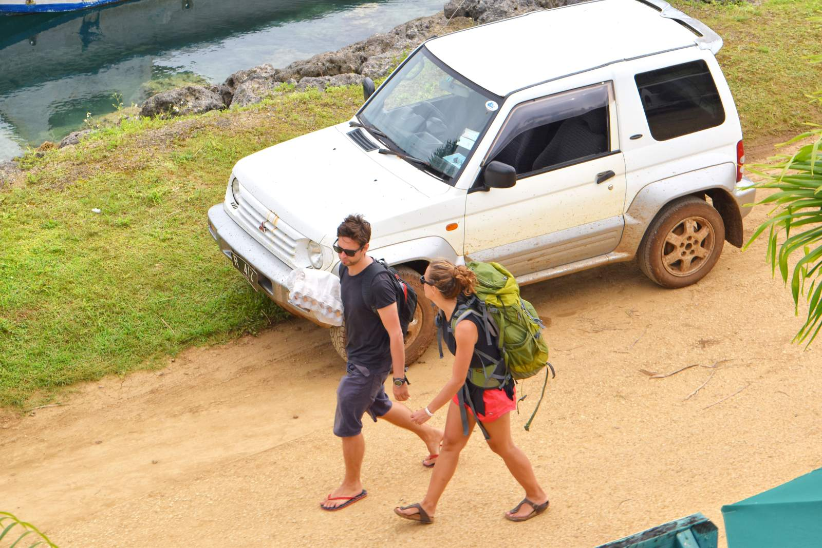 Hitchhiking in Tonga