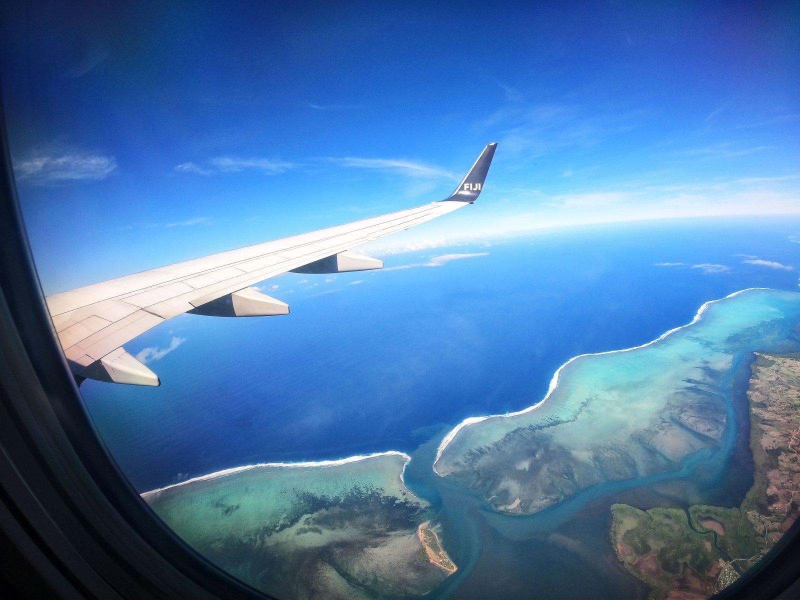 Fiji Airways Plane Wing Feature Mandatory Credit FijiPocketGuide.com