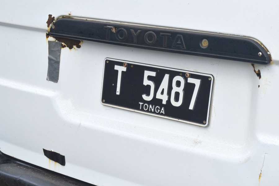 Taxi Number Plate T Mandatory Credit To TongaPocketGuide.com Small 1