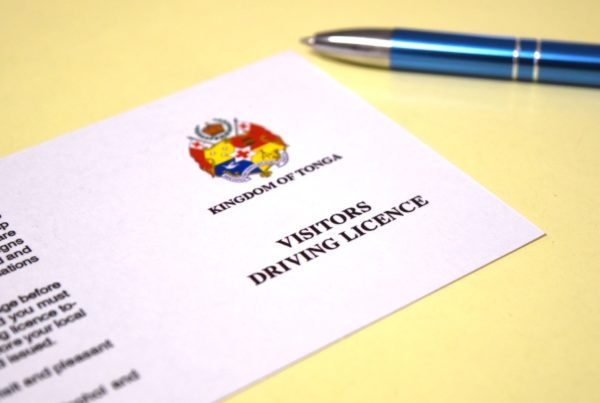 How to Get a Tonga Visitor's Driving Licence