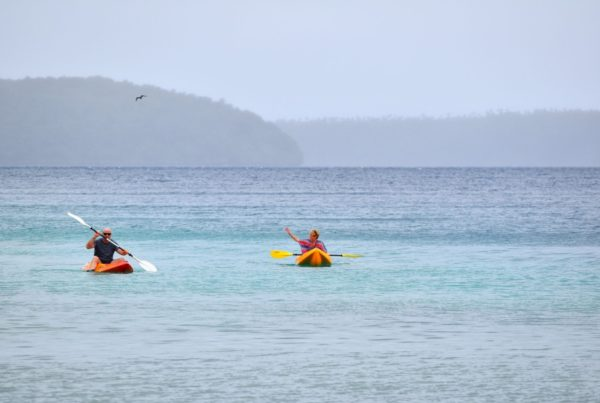 Older Couple Kayaking Vavau Tongan Beach Resort Mandatory Credit To TongaPocketGuide.com Small