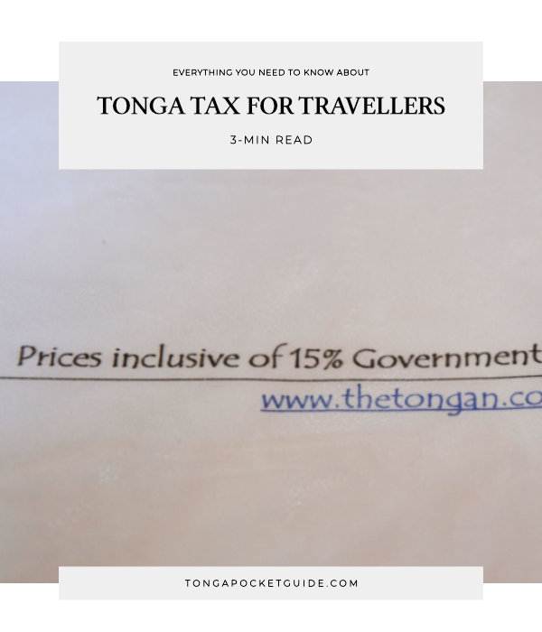 Tonga Tax Guide for Travellers