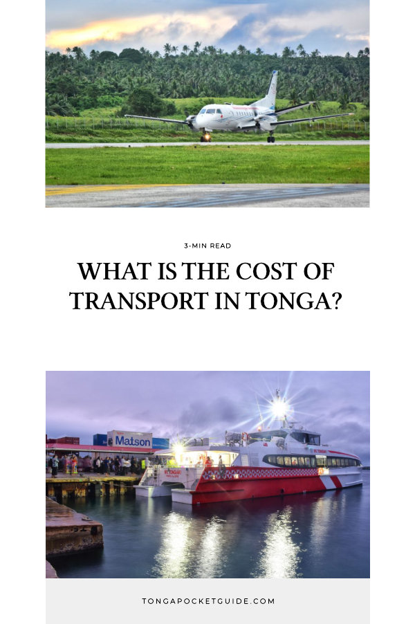 What is the Cost of Transport in Tonga?
